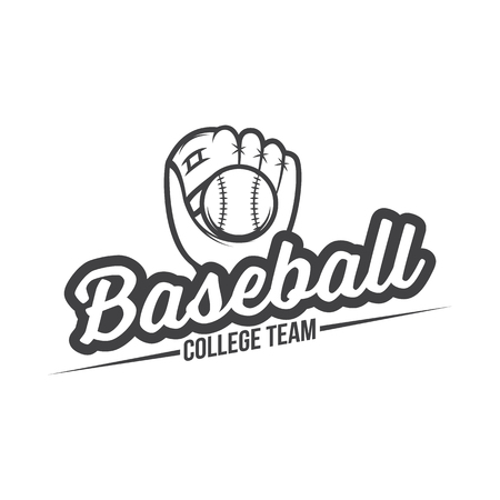 Vector Baseball logo and insignia Standard-Bild - 122108866