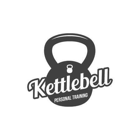 Bodybuilding, powerlifting, kettlebell, workout logotype sign symbol. Fitness logo emblem design elements. Sport icon and elements.