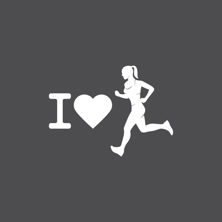 Running logo, marathon concept, sport activities, triathlon vector line icon Standard-Bild - 122108890