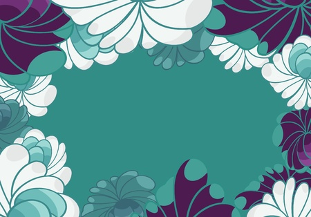 flower background for card