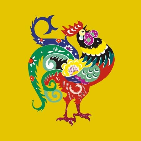 color cock Vector