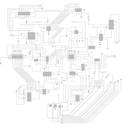 abstract circuit board Illustration