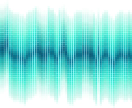 blue digital wave data background Vector
