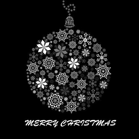 black and white Christmas ball for design Vector