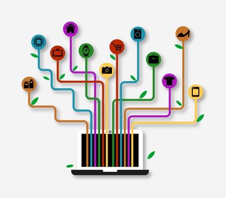 commerce electronique: Commerce �lectronique Illustration