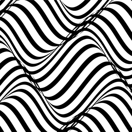 vector of black and white abstract wave background Vector