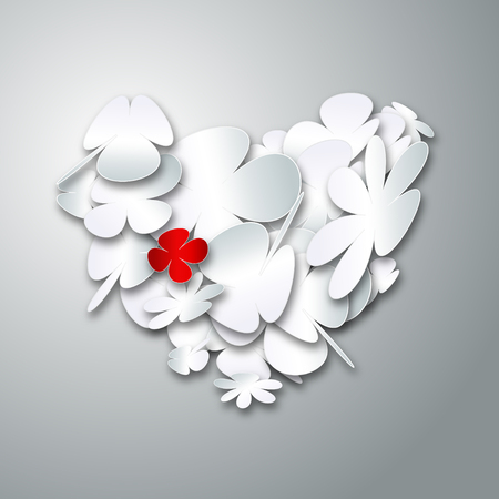 Valentines day heart style shape with gray background Vector
