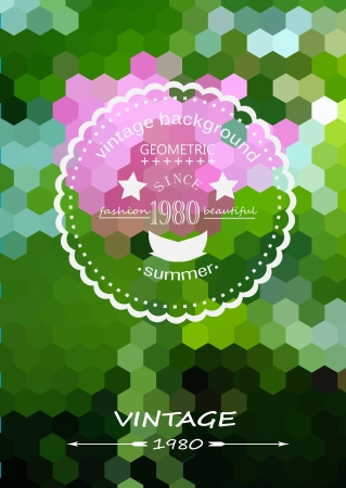 vintage style banner with lotus flowers pattern background Vector