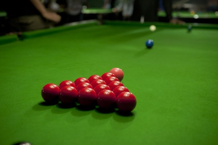 many snooker balls photo