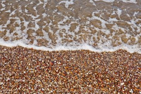 yaw: waves and stones Stock Photo