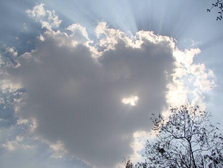 duskiness: sparkling sun Stock Photo