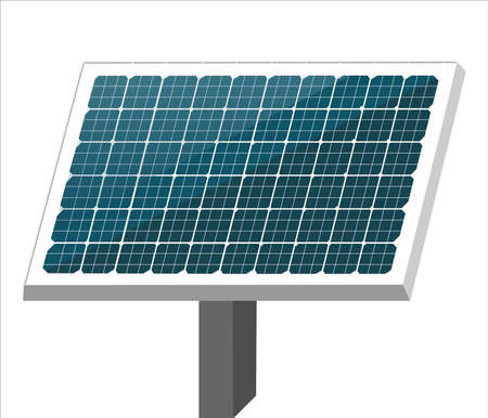 3d illustration of solar cell or Photovoltaics module (PV module, Solar module) isolated on white background. Environmental conservation or energy saving concepts. Ilustracje wektorowe