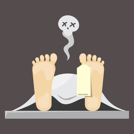 toe: Flat design of dead man tag illustration vector Illustration