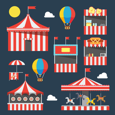 Flat design of carnival festival illustration vector Çizim