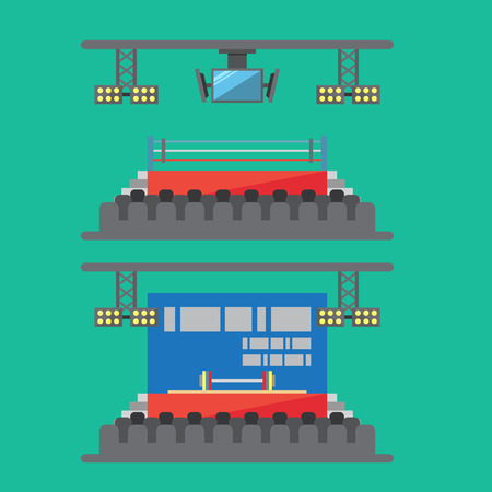 the stage: Flat design of sport stadium illustration vector Illustration