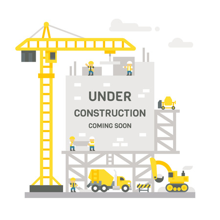 Flat design construction site sign illustration vector
