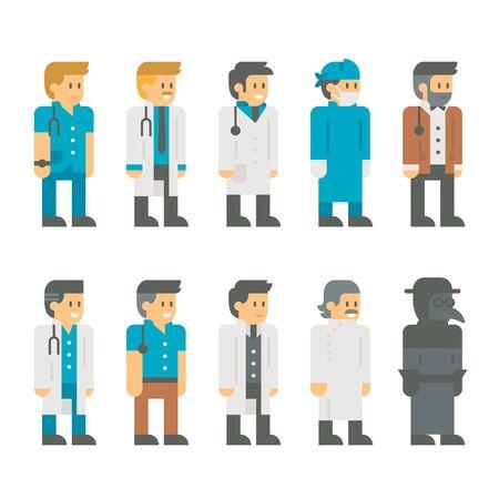 robe: Flat design doctor uniform set illustration