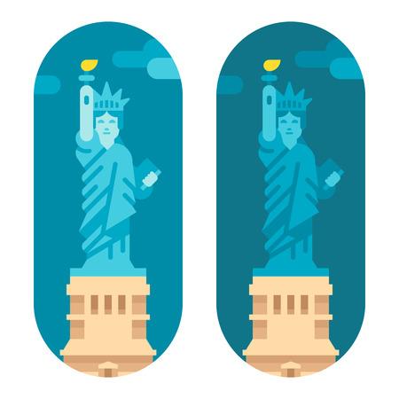liberty statue: Flat design liberty statue illustration