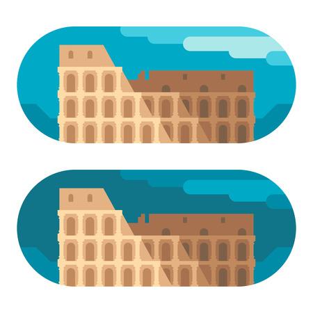 arena: Flat design Colloseum arena illustration