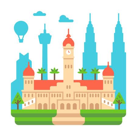 Flat design Sultan Ubdul Samad illustration vector