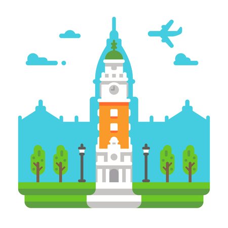 Flat design Torre Monumental illustration vector