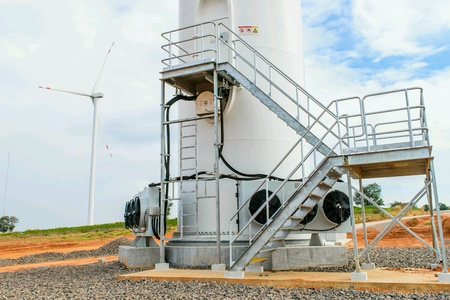 Electricity wind turbine tower generator
