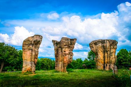 Stonehenge of Thailand (Mo Hin khao) at Chaiyaphum province Thailand
