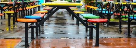 food court: Public food court seat