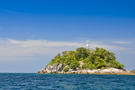 Rock island on the Andaman Sea near the southern part of thailand photo