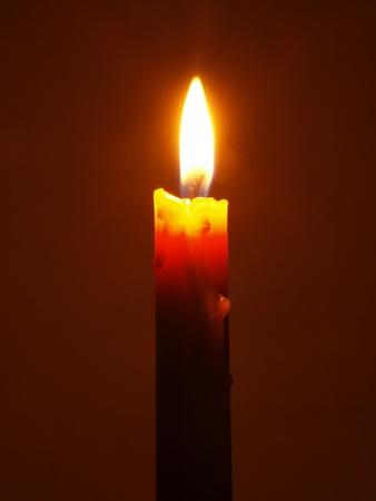 flame like: Single burning candle