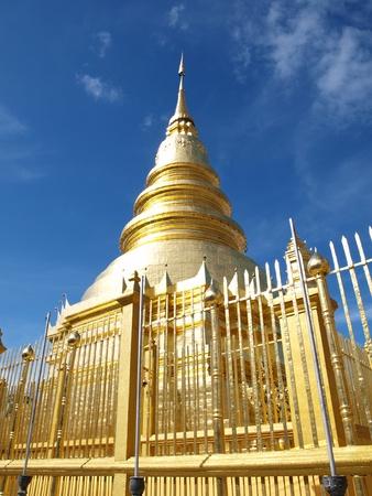 Hariphunchai temple at Lamphun, this famous pagoda in Thailand