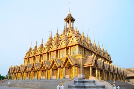 Famous pagoda at Wat Thasung in Thailand