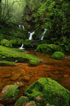 Waterfall on the Phusoidao mountain at Thailand photo