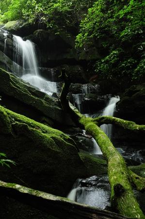 Waterfall on the Phusoidao mountain at Thailand Stock Photo