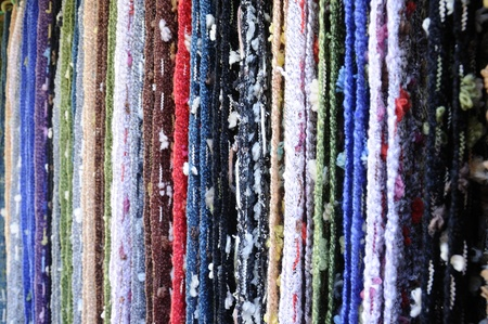 Cotton scarves in many colors  Stock Photo