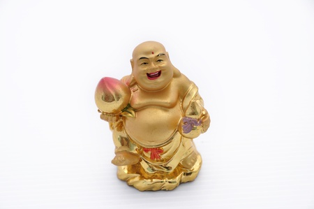 The Cute Chinese monk are gold color