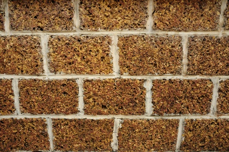 Orange brick wall background Stock Photo - 13151883