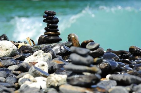 Stones balance - pebbles stack Stock Photo - 16025069