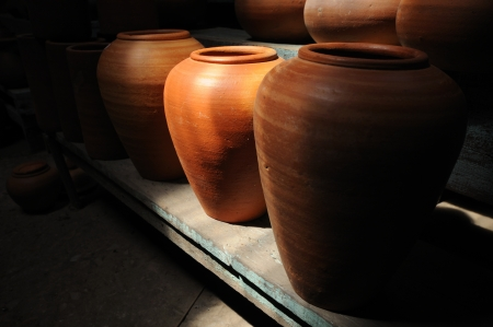Pottery and lighting & shadow photo