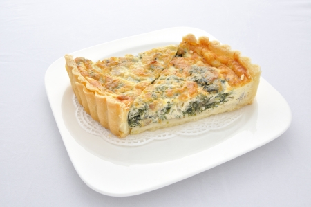 Piece of Spinach Tarts Stock Photo