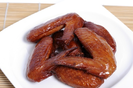 Baked chicken wings.