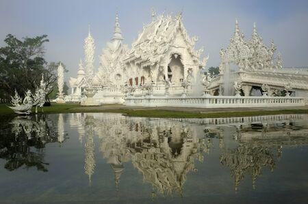 Wat   Temple   Rong Khun in Chiang Rai Thailand Stock Photo