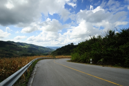 Winding road on the mountain.
