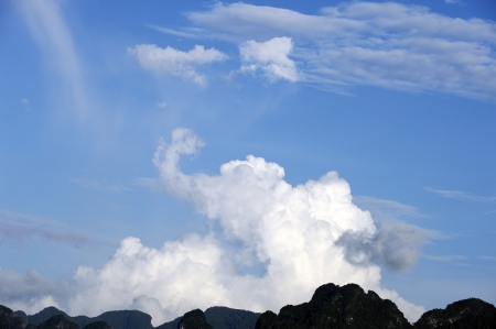 Clouds in the shape of elephant.