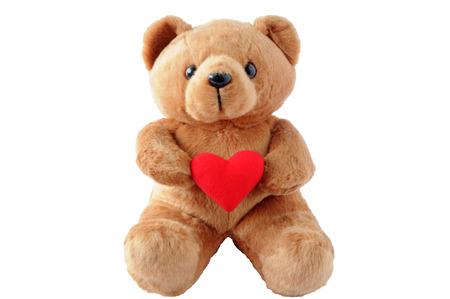 teddy bear: Oso de peluche con un coraz�n en blanco