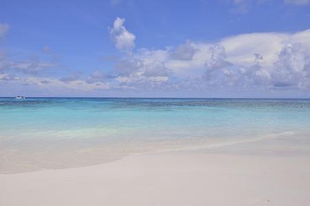Transparent beach and blue sky.