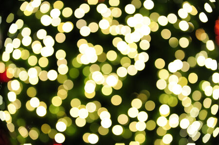 Defocus the lighting from the Christmas tree. Stock Photo