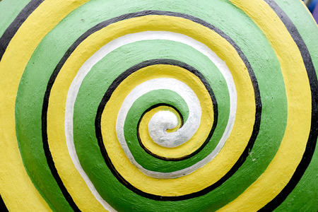 logarithmic: Circular of green snails, abstract snail.