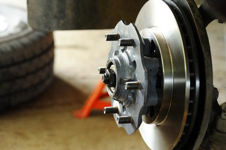 New disc brake and wheel hub. Stock fotó