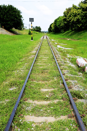 diminishing perspective: Railway with a diminishing long perspective.